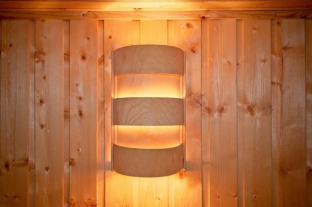 světlo sauny
