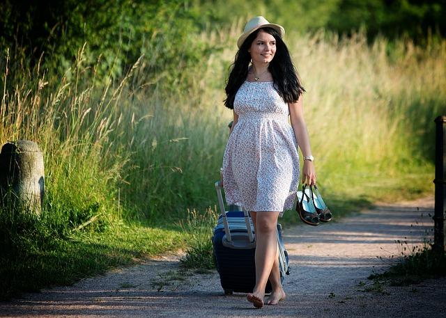 cestování s kufrem