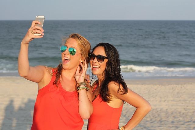 selfie na pláži