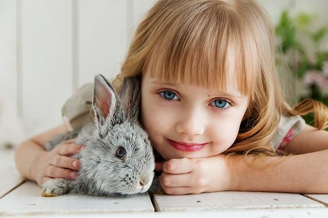 králíček s holčičkou