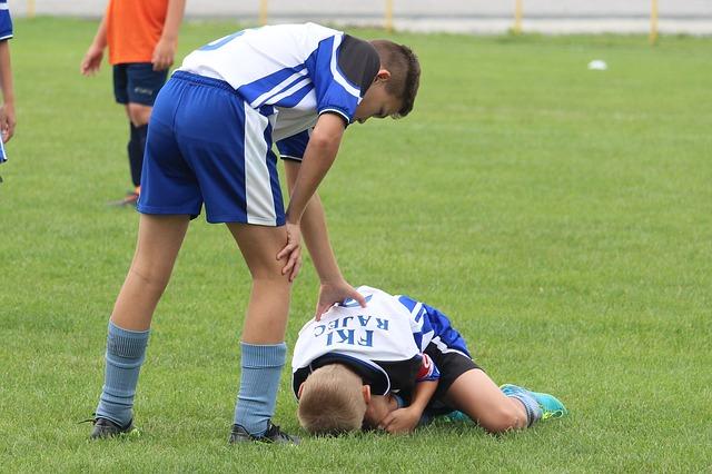 zraněný fotbalista
