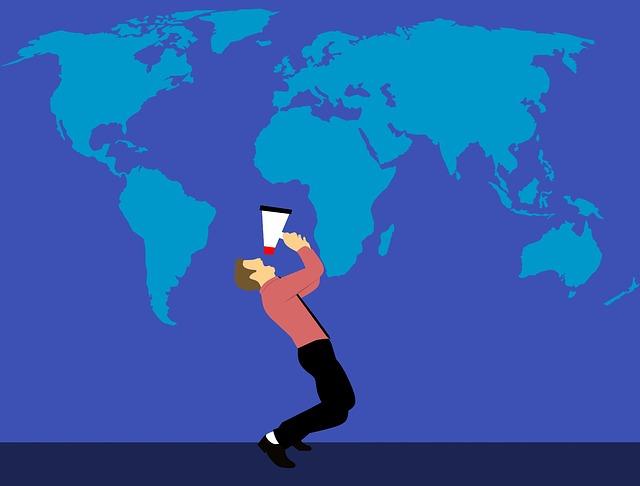 rozhlašovat informace do světa