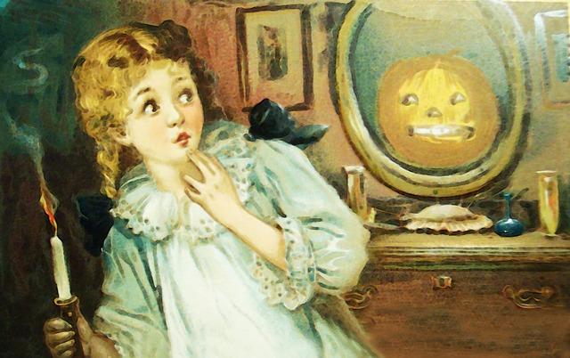 vystrašená dívka