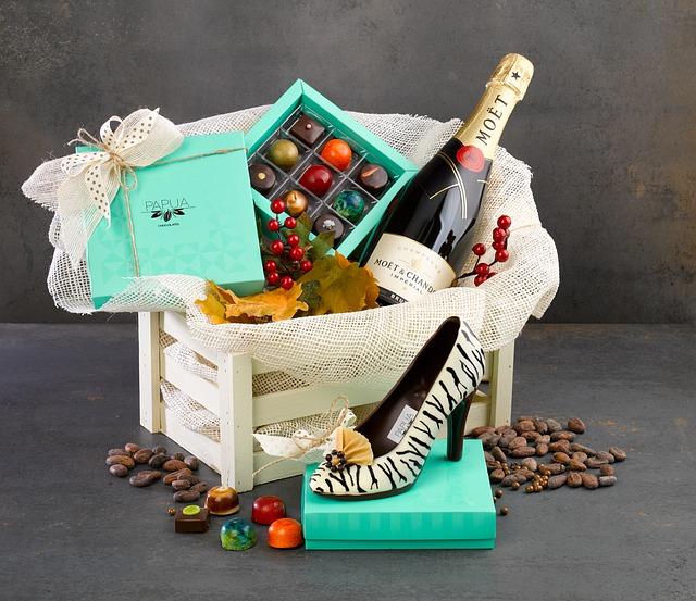 box s čokoládou