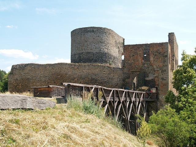 zřícenina, Krakovec, hrad, gotika, Jan Hus