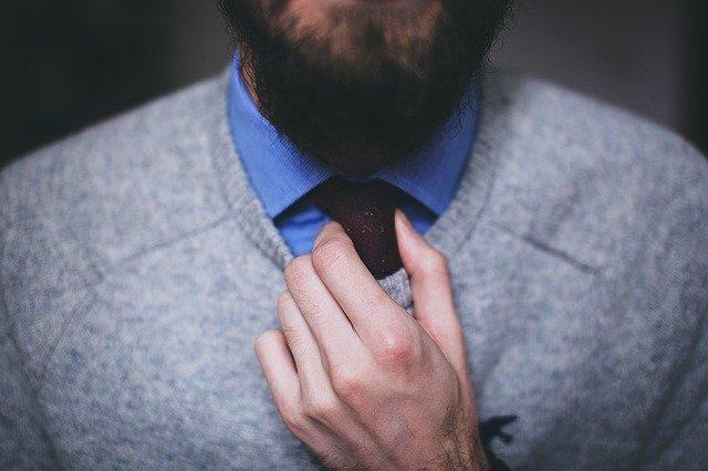 Muž, kravata, outfit